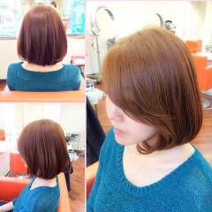 ピンク ガーリー ボブ 秋 ヘアスタイルや髪型の写真・画像
