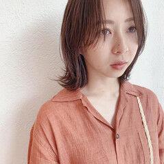 名古屋市 ハンサムバング ボブ ナチュラル ヘアスタイルや髪型の写真・画像