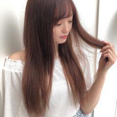 エクステ 簡単ヘアアレンジ ナチュラル ロング ヘアスタイルや髪型の写真・画像