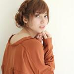 ヘアアレンジ 編み込み ショート まとめ髪