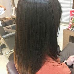ストレート 銀座美容室 ナチュラル アディクシーカラー ヘアスタイルや髪型の写真・画像