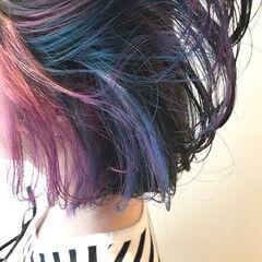 インナーカラー 外国人風カラー ボブ モード ヘアスタイルや髪型の写真・画像