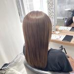 フェミニン ハイトーンカラー 艶髪 ロング