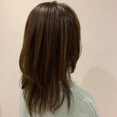 ミディアム レイヤーロングヘア ネオウルフ ストリート ヘアスタイルや髪型の写真・画像