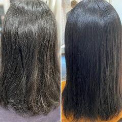 髪質改善トリートメント 薄毛改善 縮毛矯正 ロング ヘアスタイルや髪型の写真・画像