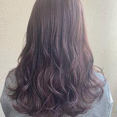 ピンクラベンダー ピンクブラウン ラベンダーグレージュ ピンクバイオレット ヘアスタイルや髪型の写真・画像