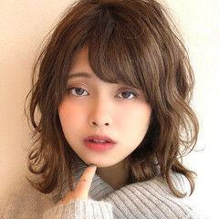 大人女子 ミディアム 無造作 大人可愛い ヘアスタイルや髪型の写真・画像