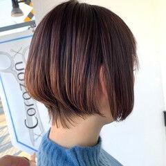 透明感カラー ショート リアルサロン カット ヘアスタイルや髪型の写真・画像