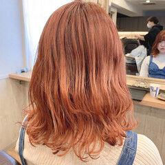 ナチュラル イヤリングカラーピンク ヌーディベージュ イヤリングカラー ヘアスタイルや髪型の写真・画像