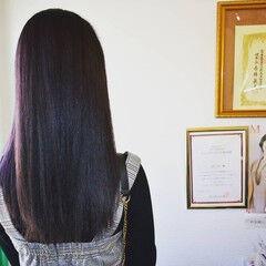 ナチュラル ヘアカラー セミロング ヴァイオレット ヘアスタイルや髪型の写真・画像