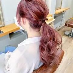 ラベンダーグレージュ ピンクアッシュ ピンクベージュ ラズベリー ヘアスタイルや髪型の写真・画像