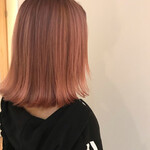 グラデーションカラー モード ピンク ミディアム