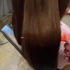 セミロング 艶髪 大人女子 うる艶カラー ヘアスタイルや髪型の写真・画像