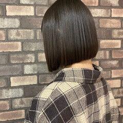 ヘアドネーション 前下がりボブ 透明感 ボブ ヘアスタイルや髪型の写真・画像