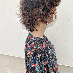 ウルフレイヤー ストリート スパイラルパーマ ボブ ヘアスタイルや髪型の写真・画像