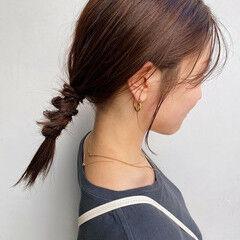 ナチュラル ヘアアレンジ セミロング ルーズヘア ヘアスタイルや髪型の写真・画像