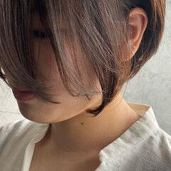 ショート 濡れ髪スタイル ショートボブ ショートヘア ヘアスタイルや髪型の写真・画像
