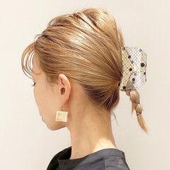 ナチュラル ブリーチカラー ミルクティーベージュ ヘアアレンジ ヘアスタイルや髪型の写真・画像