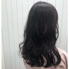ナチュラル ロング ピンクラベンダー ラベンダーカラー ヘアスタイルや髪型の写真・画像