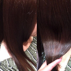 ナチュラル ロング ベリーピンク ヘアスタイルや髪型の写真・画像