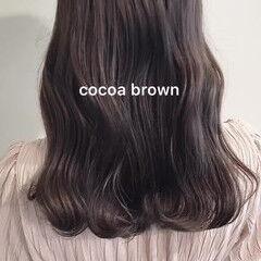 ブリーチなし ベージュ 透明感カラー ナチュラル ヘアスタイルや髪型の写真・画像