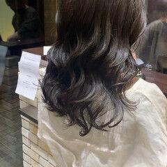 前髪パーマ ゆるふわパーマ デジタルパーマ ナチュラル ヘアスタイルや髪型の写真・画像