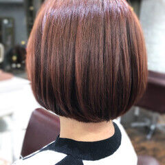 フェミニン モテ髪 ボブ ミニボブ ヘアスタイルや髪型の写真・画像