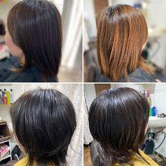 ミディアム ゆるふわパーマ ウルフ女子 スパイラルパーマ ヘアスタイルや髪型の写真・画像