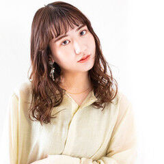 韓国風ヘアー ミディアム 大人ミディアム 大人ヘアスタイル ヘアスタイルや髪型の写真・画像