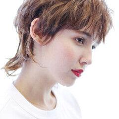 大人かわいい ウルフパーマ ウルフ女子 無造作パーマ ヘアスタイルや髪型の写真・画像