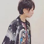 黒髪 ショート モード パーマ
