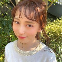 大人女子 ミディアム 春ヘア フェミニン ヘアスタイルや髪型の写真・画像