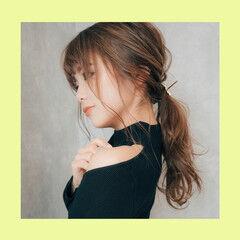 ロング ナチュラル ヘアアレンジ セルフヘアアレンジ ヘアスタイルや髪型の写真・画像
