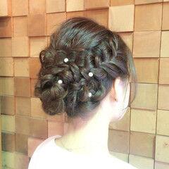 パールアクセ 結婚式 ヘアアレンジ 愛され ヘアスタイルや髪型の写真・画像