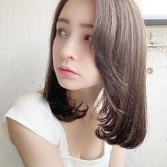 毛先パーマ ナチュラル 縮毛矯正ストカール 縮毛矯正 ヘアスタイルや髪型の写真・画像