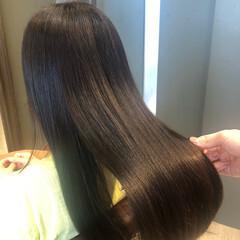 ロング 髪質改善 美髪 ナチュラル ヘアスタイルや髪型の写真・画像
