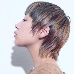 ショート かっこいい 大人ハイライト マニッシュ ヘアスタイルや髪型の写真・画像