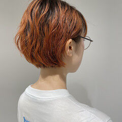 ショートボブ ナチュラル 伸ばしかけ ボブ ヘアスタイルや髪型の写真・画像