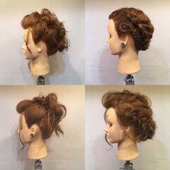 セミロング 裏編み込み モード ヘアアレンジ ヘアスタイルや髪型の写真・画像