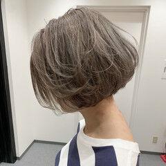 クール ミニボブ モード ショートボブ ヘアスタイルや髪型の写真・画像