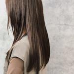 髪質改善 波巻き 外国人風 カーキアッシュ