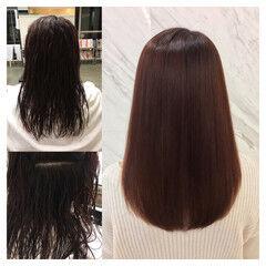 リラックス ナチュラル パーマ 縮毛矯正 ヘアスタイルや髪型の写真・画像