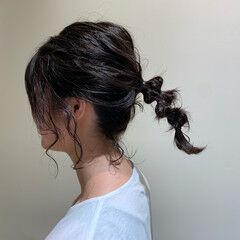 ミディアム ヘアアレンジ ナチュラル ラーメンマンヘア ヘアスタイルや髪型の写真・画像