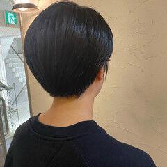 ナチュラル 刈り上げショート ハンサムショート 刈り上げ女子 ヘアスタイルや髪型の写真・画像