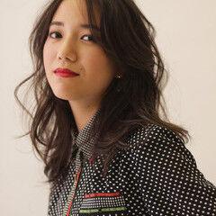 大人女子 フェミニン セミロング 甘辛MIX ヘアスタイルや髪型の写真・画像