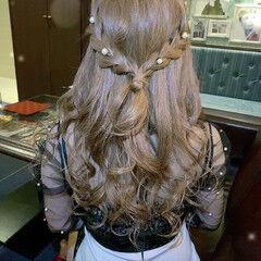 編み込みヘア 編み込み ナチュラル 簡単ヘアアレンジ ヘアスタイルや髪型の写真・画像