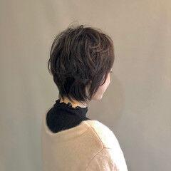 簡単スタイリング ミニボブ ショートボブ フェミニン ヘアスタイルや髪型の写真・画像