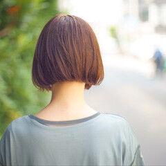 ナチュラル ショート おかっぱ ミニボブ ヘアスタイルや髪型の写真・画像