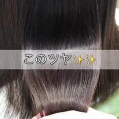 ナチュラル 髪質改善 ツヤ髪 縮毛矯正 ヘアスタイルや髪型の写真・画像