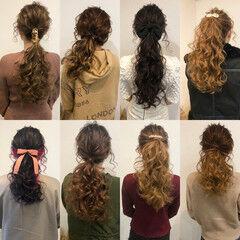 ロング ヘアセット ポニーテール 結婚式 ヘアスタイルや髪型の写真・画像
